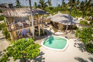 Vue aeriene villa 2 White Sand